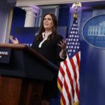 White House deputy press secretary Sarah Huckabee Sanders speaks during the daily press briefing, Thursday, June 29, 2017, in Washington. (AP Photo/Evan Vucci)
