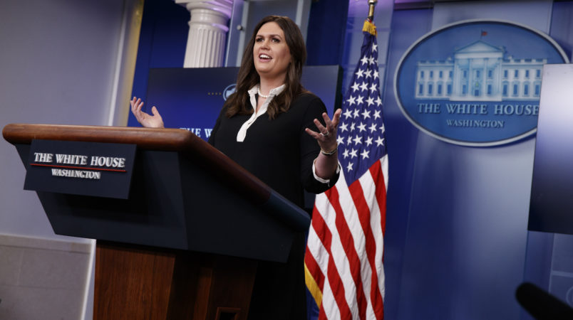 WATCH LIVE: Sanders Gives On-Camera White House Press ...