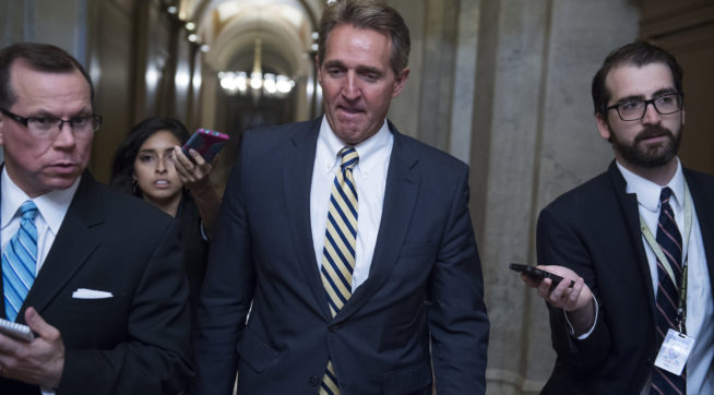 White House Has Met With Potential Flake Primary Challengers