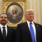 President Donald Trump meets with Lebanese Prime Minister Saad Hariri in the Oval Office of the White House in Washington, Tuesday, 25, 2017. (AP Photo/Pablo Martinez Monsivais)