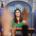 White House press secretary Sarah Huckabee Sanders speaks during a press briefing at the White House, Thursday, July 27, 2017, in Washington. (AP Photo/Alex Brandon)