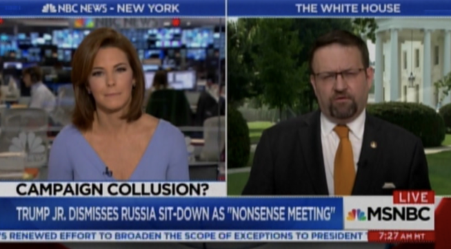 Gorka Spars With CNN, MSNBC Over Trump Jr. Meeting With Russian Lawyer