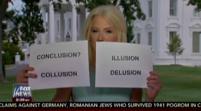 Twitter Had a Field Day With Kellyanne Conway's Flash Cards