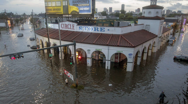 Flooding around the Circle Food Store in New Orleans Saturday, August 5, 2017. (Photo by Brett Duke, Nola.com | The Times-Picayune)
