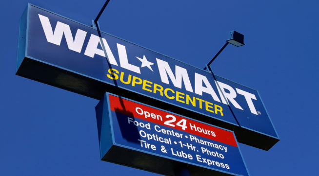 Guns With Back to School Sign at Walmart Draws Fire Online