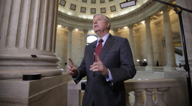 Trump Dumps on 'Publicity Seeking Lindsey Graham,' Jeff Flake