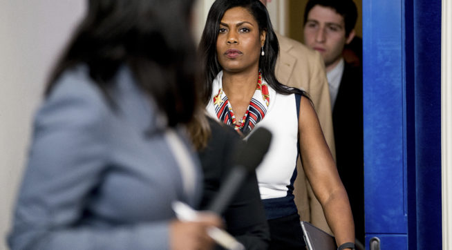 WH Aide Omarosa Has Tense Exchange at Black Journalist Convention