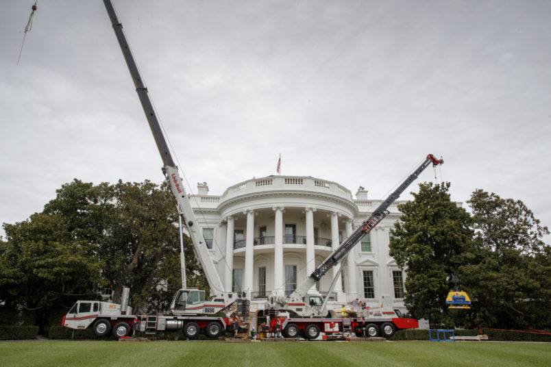 Photos White House Undergoes Long Planned Renovation