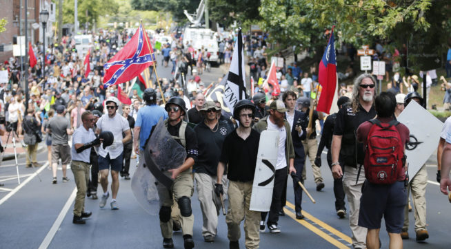 White nationalists return to Charlottesville less than 2 months after violent clashes
