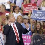 President Donald Trump speaks at a rally, Tuesday, Aug.22, 2017, in Phoenix. (AP Photo/Rick Scuteri)