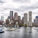 Sailboats at their mouring with the skyline of Boston in the background, Monday, May 8, 2017. (AP Photo via Ron Heflin)