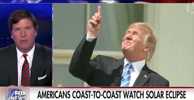 Carlson jokes: Trump eclipse gazing 'most impressive thing any president has done'