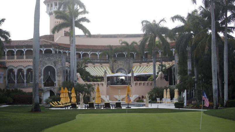 President Donald Trump's Mar-a-Lago estate is seen, Saturday, April 15, 2017, in Palm Beach, Fla. (AP Photo/Alex Brandon)