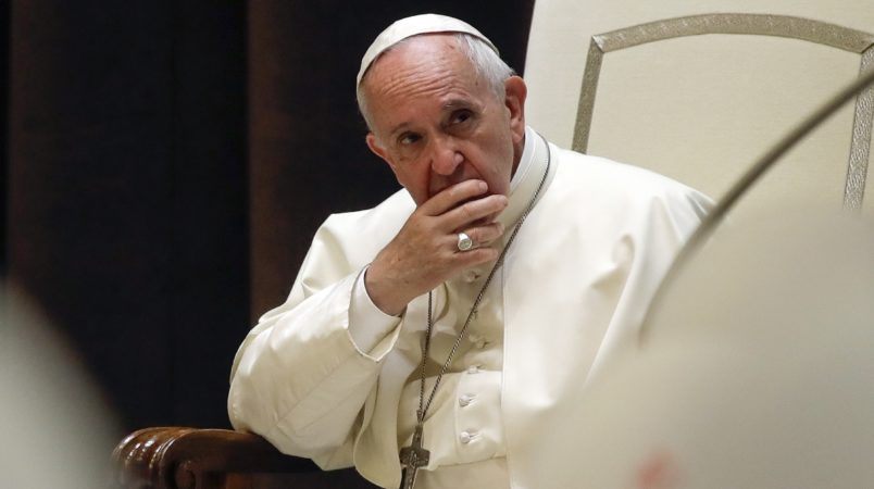 Pope Francis urges oil majors to combat global warming and aid poor