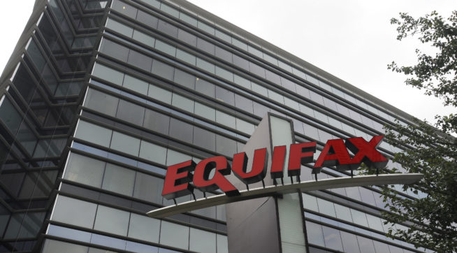 HOLD FOR JENNY KANE   In this Saturday, July 21, 2012, photo Equifax Inc., offices are seen, in Atlanta. Equifax Inc. is a consumer credit reporting agency in the United States. (AP Photo/Mike Stewart)