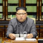 21日、平壌の朝鮮労働党中央委員会庁舎で、米国のトランプ大統領の国連総会演説に対して朝鮮国務委員会委員長声明を発表する金正恩党委員長(朝鮮中央通信=朝鮮通信)