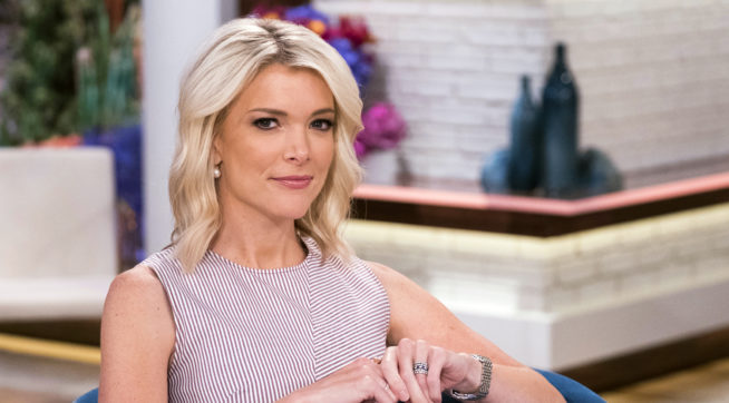 "Megyn Kelly poses on the set of her new show, ""Megyn Kelly Today"" at NBC Studios on Thursday, Sept, 21, 2017, in New York. Kelly's  talk show debuts Monday, Sept. 25, at 9 a.m. EDT. (Photo by Charles Sykes/Invision/AP)"