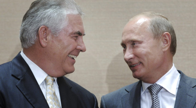 Putin: our friend Rex Tillerson fell in with the wrong crowd