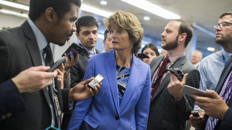 UNITED STATES - SEPTEMBER 07: Sen. Lisa Murkowski, R-Alaska, is seen in the Capitol's senate subway on September 7, 2017. (Photo By Tom Williams/CQ Roll Call)