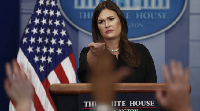 photo image Sanders Suggests ESPN Anchor Should Be Fired For Calling Trump 'A Bigot'