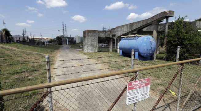 HOLD FOR STORY BY MICHAEL BIESECKER--Facility southeast of US Oil Recovery is shown Thursday, Sept. 14, 2017, in Pasadena, Texas. (AP Photo)