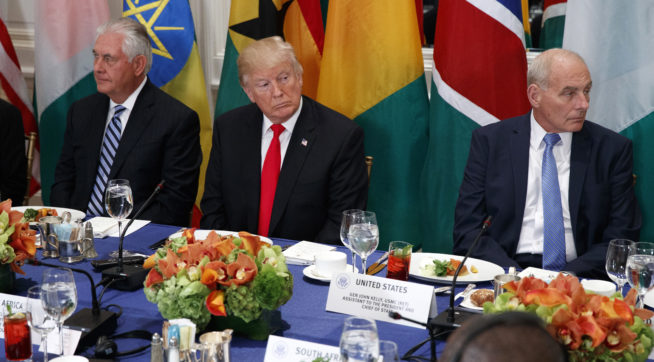 Trump mispronounces Namibia in meeting with African leaders