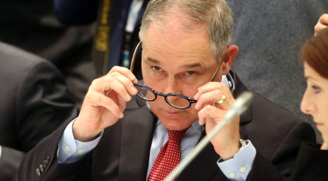 EPA says Pruitt took chartered, military flights costing taxpayers more than $58000