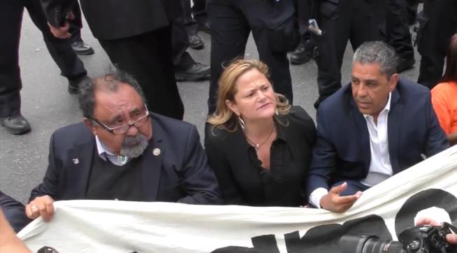 Rep. Grijalva arrested in front of Trump Tower