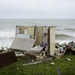 A completely ruined house is seen in El Negro community a day after the impact of Maria, a Category 5 hurricane crossed the  island, in Yabucoa, Puerto Rico, Thursday, September 21, 2017. (AP Photo/Carlos Giusti)