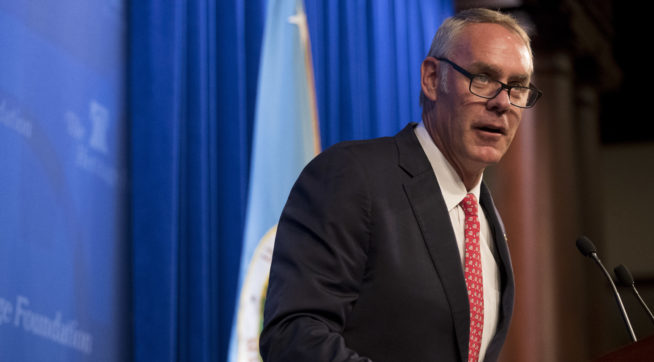 Zinke Failed to Document for Use of Private Jets, Watchdog Says
