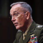 Joint Chiefs Chairman Gen. Joseph Dunford testifies before the Senate Committee on Armed Services on Capitol Hill in Washington,Tuesday, Sept. 26, 2017, to consider the reappointment of Dunford. (AP Photo/Pablo Martinez Monsivais)