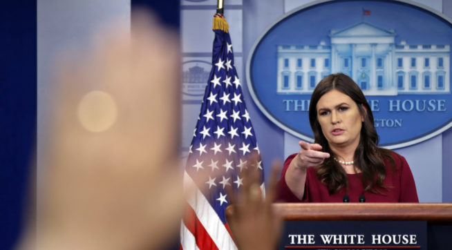 Sarah Sanders Creates a Real No-Spin Zone