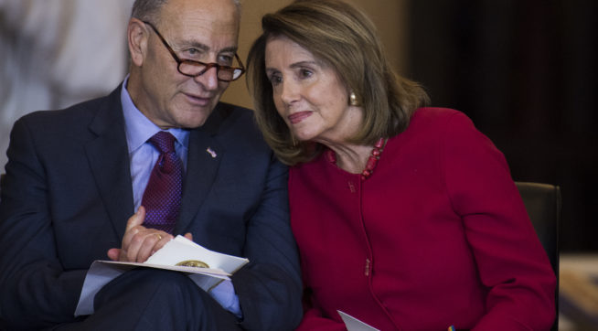 Trump meeting with Schumer, Pelosi is back on