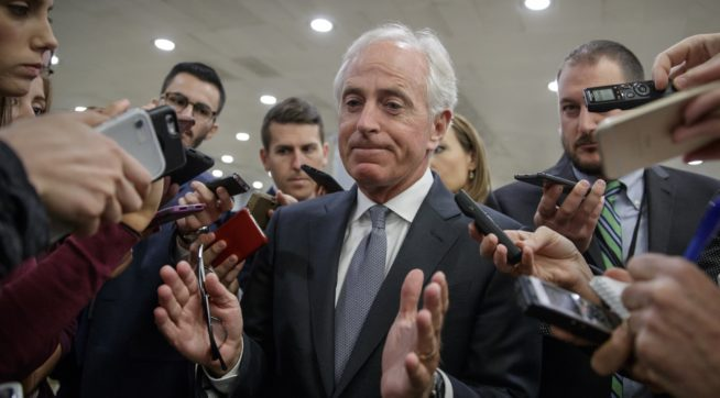 Corker doesn't rule out challenging Trump in 2020 Republican primary