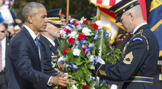 Trump remains focused on Obama, calls to fallen soldiers' families