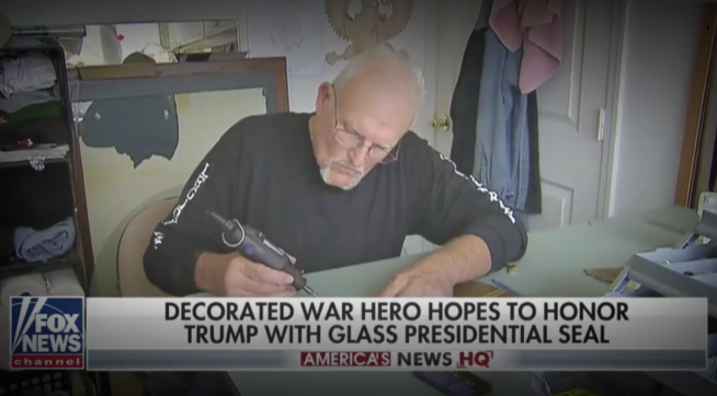 Fox News' Trump supporter now says he lied about military service