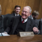 "UNITED STATES - OCTOBER 19: Chairman Lamar Alexander, R-Tenn., and Sen. Patty Murray, D-Wash., ranking member, are seen during a Senate Health, Education, Labor and Pensions Committee hearing in Dirksen Building titled ""Examining How Healthy Choices Can Improve Health Outcomes and Reduce Costs,"" on October 19, 2017. (Photo By Tom Williams/CQ Roll Call)"