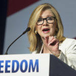 Rep. Marsha Blackburn, R-Tenn., addresses the Road to Majority Conference in Washington, Friday, June 10, 2016. (AP Photo/Cliff Owen)