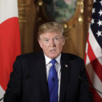 U.S. President Donald Trump speaks during a news conference with Shinzo Abe, Japan's prime minister, not pictured, at Akasaka Palace in Tokyo, Japan, on Monday, Nov. 6, 2017. Photographer: Kiyoshi Ota/Bloomberg