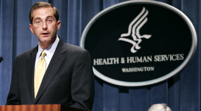 Trump chooses drug executive as health secretary