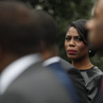 "White House Director of communications for the Office of Public Liaison Omarosa Manigault stands with the of leaders of Historically Black Colleges and Universities (HBCU) outside the West Wing of the White House in Washington, Tuesday, Feb. 28, 2017. President Donald Trump signed an executive order Tuesday aimed at signaling his commitment to historically black colleges and universities, saying that those schools will be ""an absolute priority for this White House.""(AP Photo/Pablo Martinez Monsivais)"