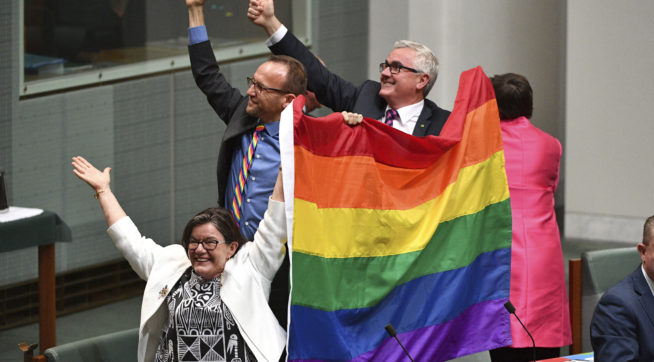 photo image Australian Parliament Approves Same-Sex Marriages