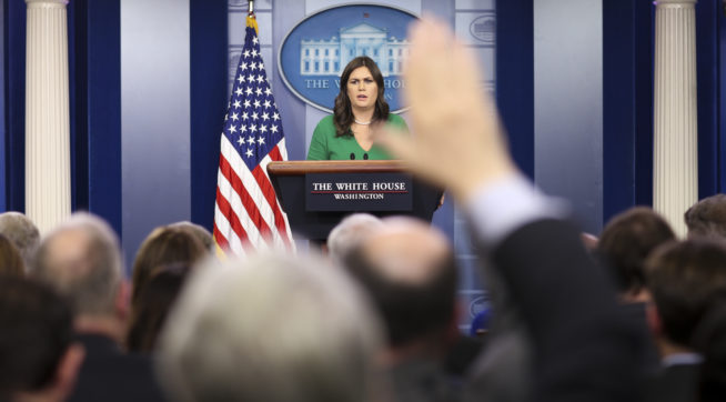 Sarah Huckabee Sanders Holds Back on Tax Bill Reaction