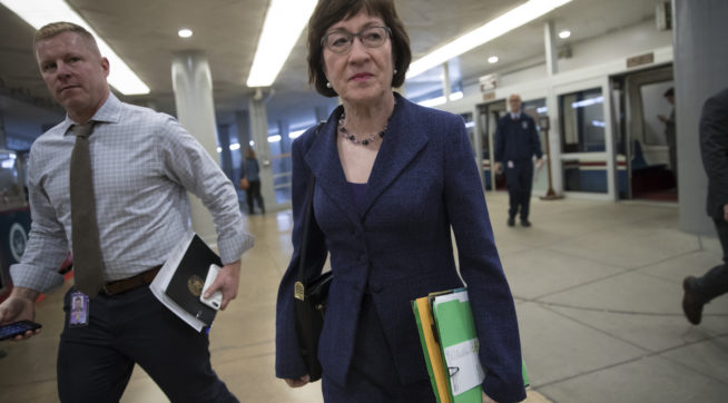 Sen. Collins Slams 'Sexist' Media Coverage of Her Tax Vote