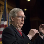 Senate Majority Leader Mitch McConnell, R-Ky., discusses the GOP agenda for next year and touts his accomplishments in the first year of the Trump Administration, during a news conference on Capitol Hill in Washington, Friday, Dec. 22, 2017. The six-term Kentucky lawmaker will face an even slimmer GOP majority, 51 Republicans to 49 Democrats, in January when Alabama Democrat Doug Jones is seated. Two other long-serving Republicans, Sen. John McCain of Arizona, and Sen. Thad Cochran of Mississippi, have been sidelined with health issues. (AP Photo/J. Scott Applewhite)