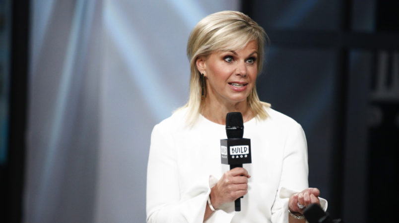 "Gretchen Carlson participates in the BUILD Speaker Series to discuss her book ""Be Fierce: Stop Harassment and Take Back Your Power"" at AOL Studios on Tuesday, Oct. 17, 2017, in New York. (Photo by Andy Kropa/Invision/AP)"