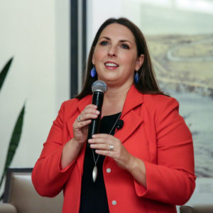"Ronna Romney McDaniel, then chairwoman of the Michigan Republican Party, leads a panel of Republican women to discuss the topic ""All Issues are Women's Issues,"" at the Sheraton hotel on Sept. 19, 2016 in Novi, Mich. (Kimberly P. Mitchell/Detroit Free Press/TNS)"
