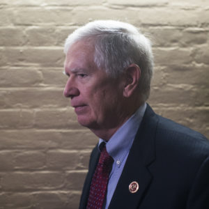 UNITED STATES - JULY 28: Rep. Mo Brooks, R-Ala., leaves a meeting of the House Republican Conference in the Capitol on July 28, 2017. (Photo By Tom Williams/CQ Roll Call)