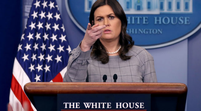 Sarah Huckabee Sanders dodges question about 'Time's Up' movement, talks about immigration
