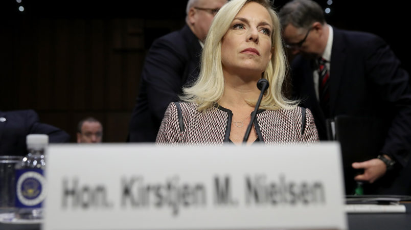 DHS secretary used 'hard language' in Trump for immigration meeting